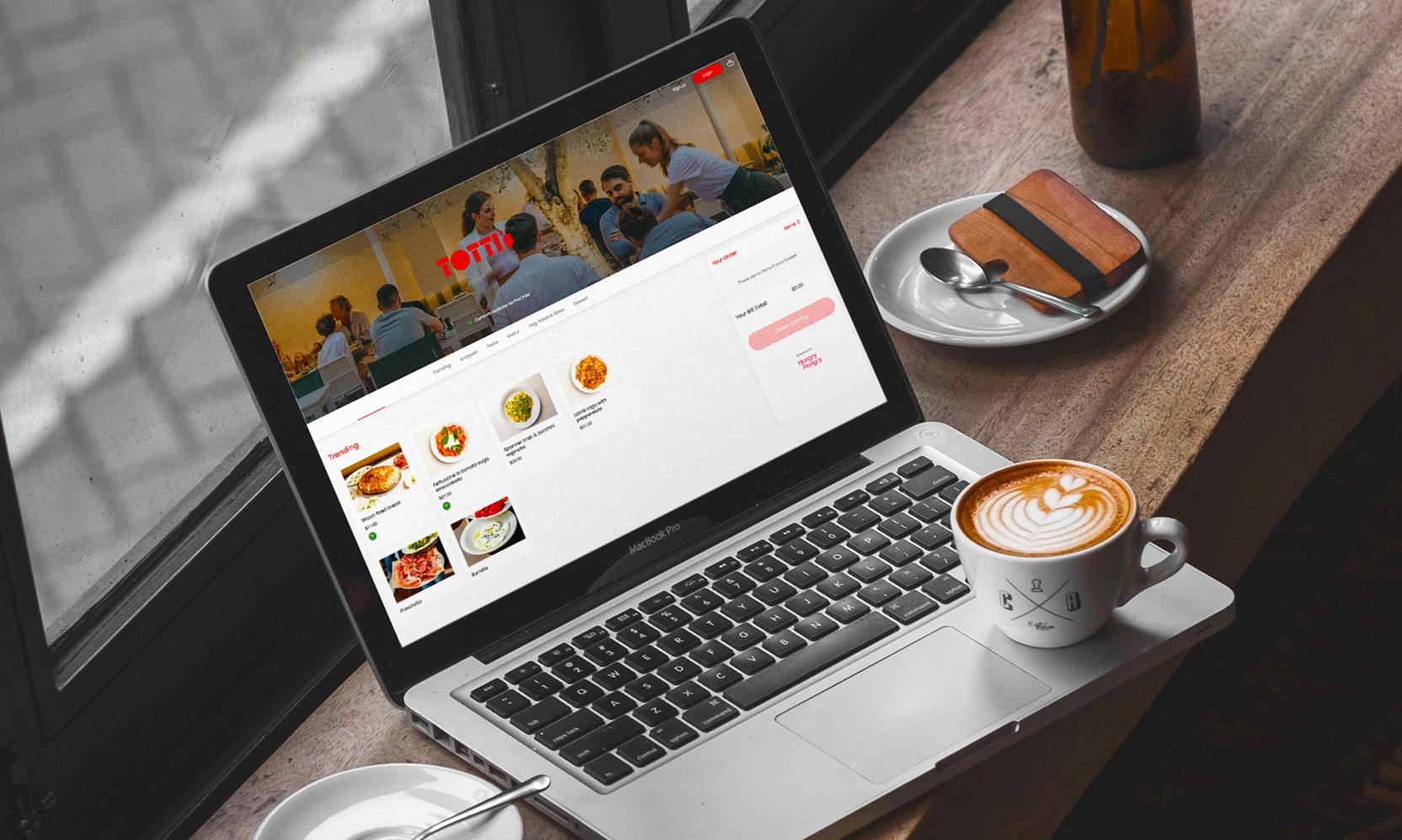 HungryHungry Digital Menu Decktop Interface: Tottis Bondi